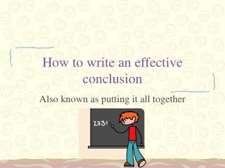 How to write an effective conclusion