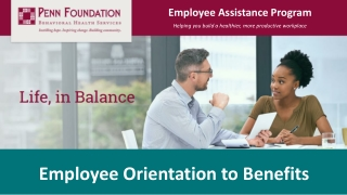 Orientation to Employee  Family Assistance Program EFAP