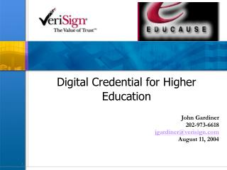 Digital Credential for Higher Education