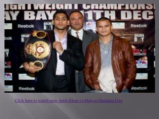 Watch Amir Khan vs Marcos Maidana Boxing Live 11 december 10