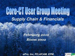 Supply Chain & Financials