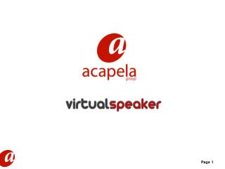 Virtual Speaker: A Virtual Studio