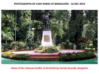 PHOTOGRAPHS OF VIJAY DIWAS AT BANGALORE - 16 DEC 2010