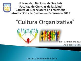 """""""Cultura Organizativa"""""""