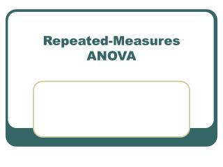 Repeated-Measures ANOVA