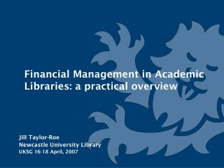 Financial Management in Academic Libraries: a practical overview