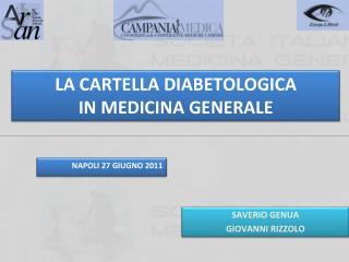 LA CARTELLA DIABETOLOGICA  IN MEDICINA GENERALE