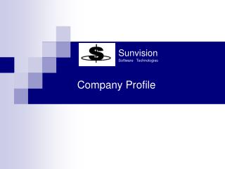 Sunvision  Software   Technologies