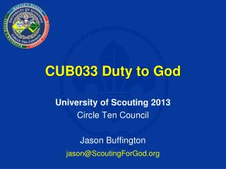 CUB033 Duty to God