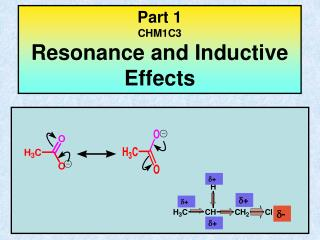 Part 1 CHM1C3 Resonance and Inductive Effects