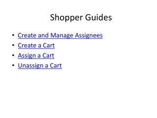 Shopper Guides