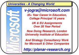 Universities - A Changing World