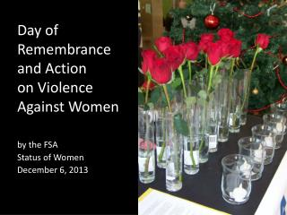 Day of  Remembrance  and Action  on Violence  Against Women