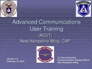 Advanced Communications User Training