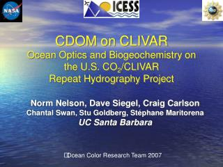 Ocean Color Research Team 2007