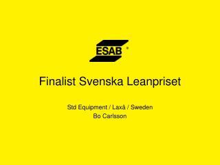 Finalist Svenska Leanpriset