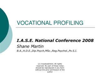 VOCATIONAL PROFILING