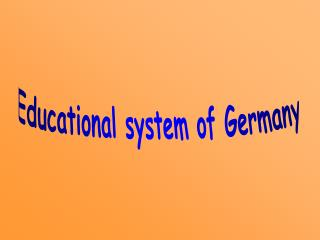 Educational system of Germany