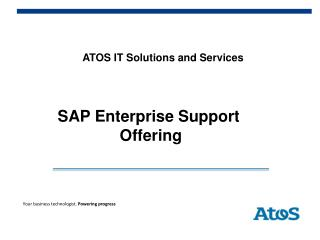 ATOS IT Solutions and Services