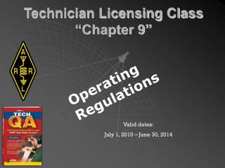 "Technician Licensing Class ""Chapter 9"""