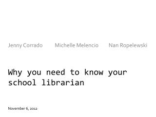 Why you need to know your school librarian