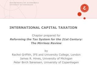 INTERNATIONAL CAPITAL TAXATION