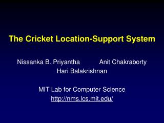 The Cricket Location-Support System
