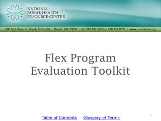 Flex Program  Evaluation  Toolkit
