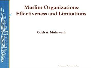 Muslim Organizations: Effectiveness and Limitations