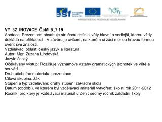 VY_32_INOVACE_Čj-Ml 6.,7.19