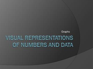 Visual Representations of Numbers and Data