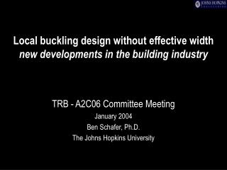 Local buckling design without effective width new developments in the building industry