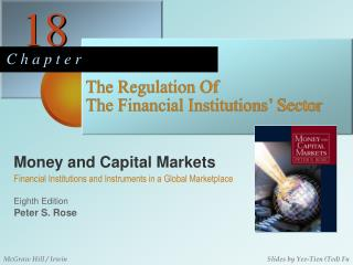 The Regulation Of  The Financial Institutions' Sector