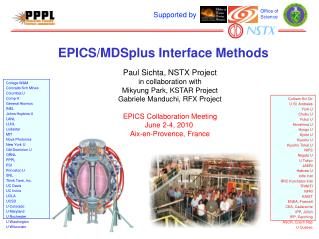 EPICS/MDSplus Interface Methods