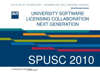 UNIVERSITY SOFTWARE LICENSING COLLABORATION NEXT GENERATION