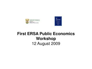 First ERSA Public Economics Workshop 12 August 2009