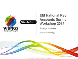EEI National Key Accounts Spring Workshop 2014