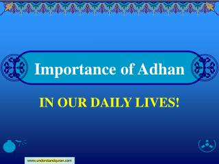 Importance of Adhan