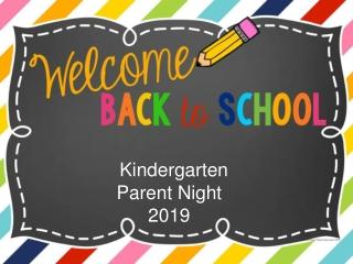 Kindergarten Parent Night 2019