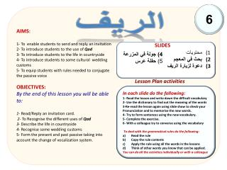 Lesson Plan activities
