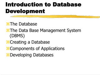 Introduction to Database Development