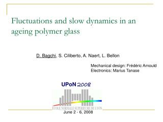 Fluctuations and slow dynamics in an ageing polymer glass