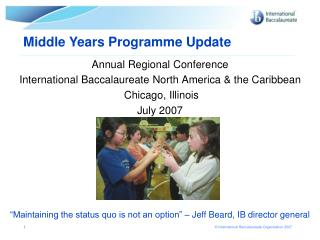 Annual Regional Conference International Baccalaureate North America & the Caribbean