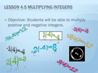Lesson 4.5 Multiplying Integers