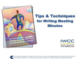 Tips & Techniques  for Writing Meeting Minutes