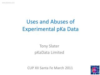 Uses and Abuses of Experimental pKa Data