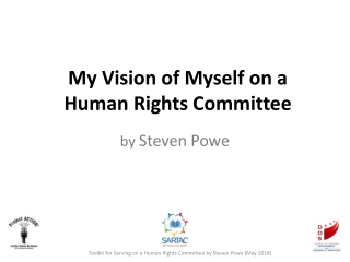 My Vision of Myself on a Human Rights Committee