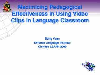 Maximizing Pedagogical Effectiveness in Using Video Clips in Language Classroom