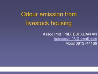 Odour emission from  livestock housing