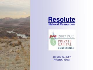 Resolute Natural Resources